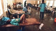 قاعة حجز للمصابين بالكوليرا في مستشفى كانو ـ نيجيريا.