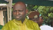 عثمان سونكو وزير الداخلية في نظام الرئيس الغامبي السابق يحيى جامي.