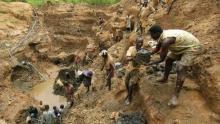 منجم للاستخراج يقع شرقي جمهورية الكونغو الديمقراطية.