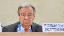 آنتونيو غوتيريس الأمين العام للأمم المتحدة.