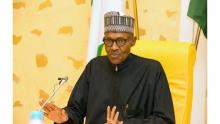 الرئيس النيجيري محمدو بخاري خلال رحلة علاجية سابقة بالمملكة المتحدة.