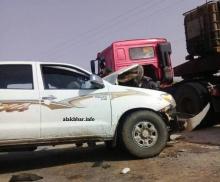 حادث تصادم سيارتين قرب واد الناقة ـ (إرشيف الأخبار)
