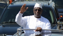 الرئيس السنغالي ماكي صال خلال زيارته لولاية ماتام.