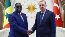 الرئيسان التركي رجب طيب أردوغان والسنغالي ماكي صال.