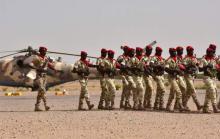 عناصر من القوة العملياتية المشتركة متعددة الجنسيات الناشطة بمنطقة حوض بحيرة اتشاد.