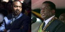 المتنافسان الرئيسيان على الانتخابات الرئاسية بزيمبابوي إميرسون منانغاغوا ونيلسون شاميسا.