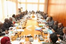 مجلس الوزراء بساحل العاج خلال اجتماع سابق.