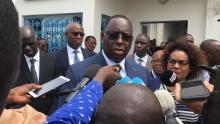 الرئيس السنغالي ماكي صال خلال إدلائه بتصريح على هامش إشرافه على افتتاح معهد الفرانكفونية من أجل التعليم والتكوين.