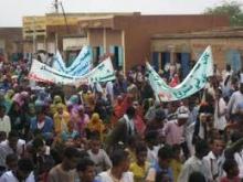 احتجاجات سابقة في مكطع الحجار للمطالبة بتوفير مياه الشرب