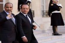 الرئيسان الموريتاني والفرنسي خلال لقاء سابق لهما في باريس