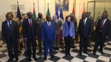 وزراء دفاع مجموعة الساحل ووزيرة الجيوش الفرنسية.
