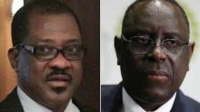 المترشحان للرئاسة السنغالية ماكي صال وماديكي نيانغ.