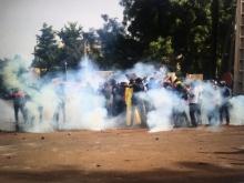 دانب من فض المسيرة التي خرجت في باماكو.