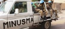 """قوات تابعة لبعثة الأمم المتحدة في مالي """"المينيسما""""."""