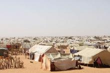 جانب من مخيم امبرة للاجئين الماليين بأقصى الشرق الموريتاني.