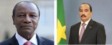 الرئيسان الموريتاني محمد ولد عبد العزيز والغيني ألفا كوندي.
