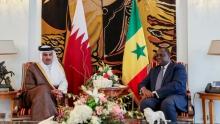 أمير قطر تميم بن حمد والرئيس السنغالي ماكي صال.