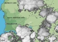 خارطة توزع الامطار هذا المساء  26 يونيو عند الساعة الثامنة (الأخبار)