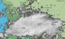 خارطة تظهر توزع السحب في تساقطات مطرية سابقة ـ (أرشيف الأخبار)