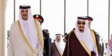 الملك السعودي سلمان بن عبد العزيز والأمير القطري تميم بن حمد آل ثاني.