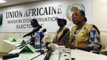 بعثة الاتحاد الإفريقي لمراقبة الانتخابات التشريعية السنغالية خلال مؤتمر صحفي بداكار.