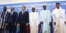 قادة بلدان مجموعة دول الساحل والرئيس الفرنسي إيمانويل ماكرون.