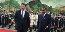 الرئيسان الكونغولي دنيس ساسو نغيسو والصيني شي جين بينغ