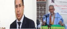 """رئيس حزب التكتل أحمد ولد داداه، ورئيس حزب """"إيناد"""" عبد القدوس ولد اعبيدنا"""