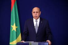 الرئيس الموريتاني محمد ولد الغزواني خلال خطابه الليلة (وما)