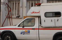 سيارة إسعاف تابعة لمركز النور الصحي