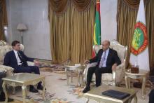 الرئيس الموريتاني محمد ولد الغزواني ووكيل الشؤون السياسية في وزارة الخارجية الأمريكية ديفيد هيل