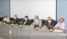 منصة افتتاح اليوم التشاوري حول المجلس الوطني للصحة (وما)