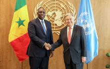الأمين العام الأممي أنتونيو غوتيريش والرئيس السنغالي ماكي صال
