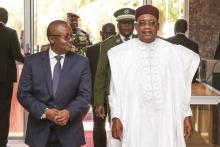 الرئيسان النيجري محمدو إسوفو والبيساوغيني عمارو سيسوكو إمبالو