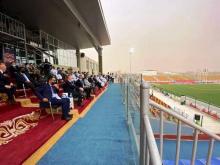 جانب من حضور رئيس الفيقا ورئيس الإتحادية الموريتانية لكرة القدم لأول مباريات المجموعة 3 / وسائل التواصل الإجتماعي
