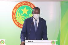 وزير الإسكان والعمران والاستصلاح الترابي سيدي أحمد ولد محمد خلال مؤتمر صحفي سابق (الأخبار)