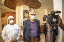 جان بيير لاكروا: وكيل الأمين العام للأمم المتحدة لعمليات السلام - من اليمين ومحمد صالح النظيف الممثل الخاص للأمين العام للأمم المتحدة في مالي