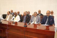فريق الدفاع عن الدولة خلال مؤتمر صحفي سابق له (الأخبار - أرشيف)