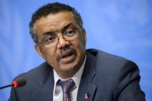 المدير العام الأمين العام لمنظمة الصحة العالمية تيدروس أدهانوم غبريسوس