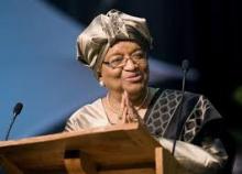 الرئيسة الليبيرية منتهية الولاية إيلين جونسون.