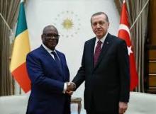 الرئيسان التركي رجب طيب أردوغان والمالي ابراهيم بوبكر كيتا.