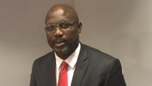 اللاعب الدولي السابق جورج ويا مرشح الانتخابات الرئاسية المرتقبة بليبيريا.