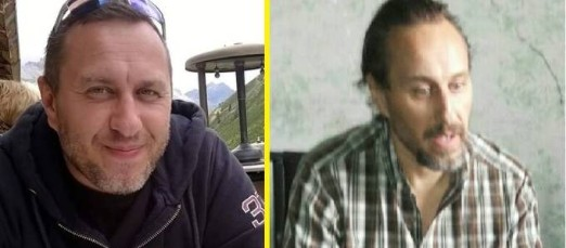 صورتان للمعتقل الإيطالي المفرج عنه اليوم، إحداهما له قبل الاعتقال، والثانية بعد أشهر من الاعتقال في موريتانيا