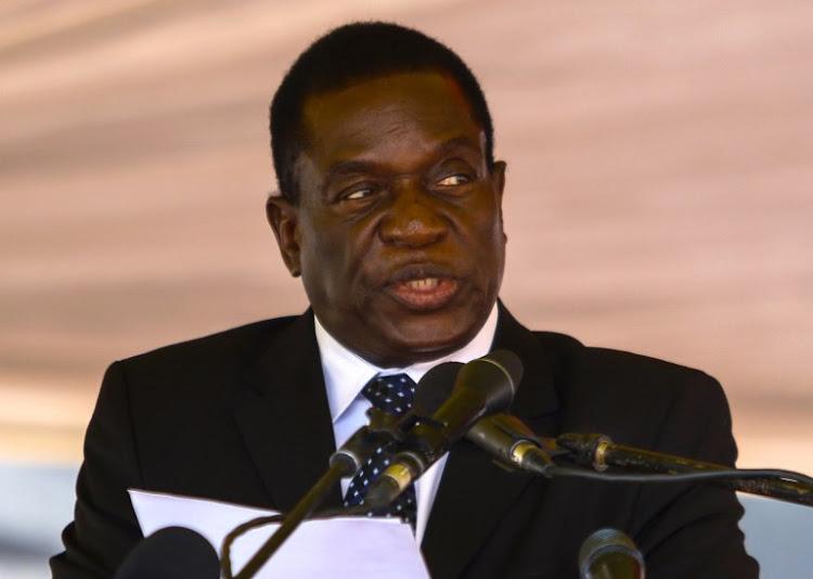 رئيس زيمبابوي إميرسون منانغاغوا.
